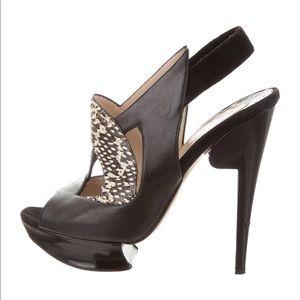 Nicholas Kirkwood leather snake heels